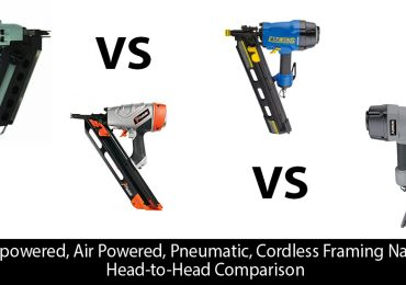 Gas powered, Air Powered, Pneumatic, Cordless Framing Nailers: Head-to-Head Comparison